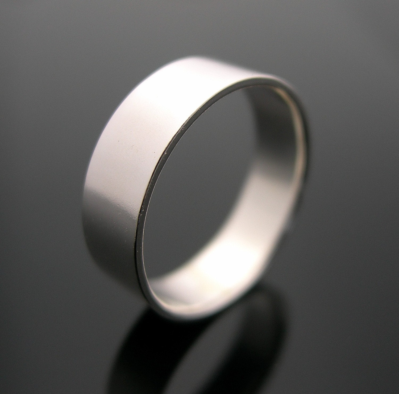 Silver Ring Plain Ring Sterling Silver Rings By JenniferWood