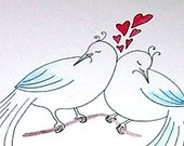 Valentine Card Love Birds Valentines Day Card Happy Valeintine's Day