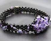 Purple Urchin Freeform Bracelet