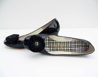 Black Patent Leather Shoes by Van Arden New York   ................  They are Vintage Custom Made Heels