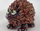 DITS Lampwork Porcupine Blown Glass Sculptural Animal by Annette Nilan SRA