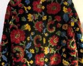 French Quarter Boho 1950s Cut Velvet Ski jacket