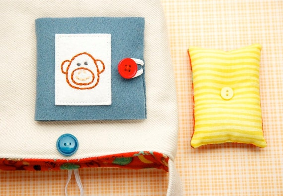 Kids Sewing Kit, Monkey Pincushion, Monkey Needle Book, Small Project Tote, Beginner Sewing Set, Fun Kids Felt Craft Kit, Learn To Sew