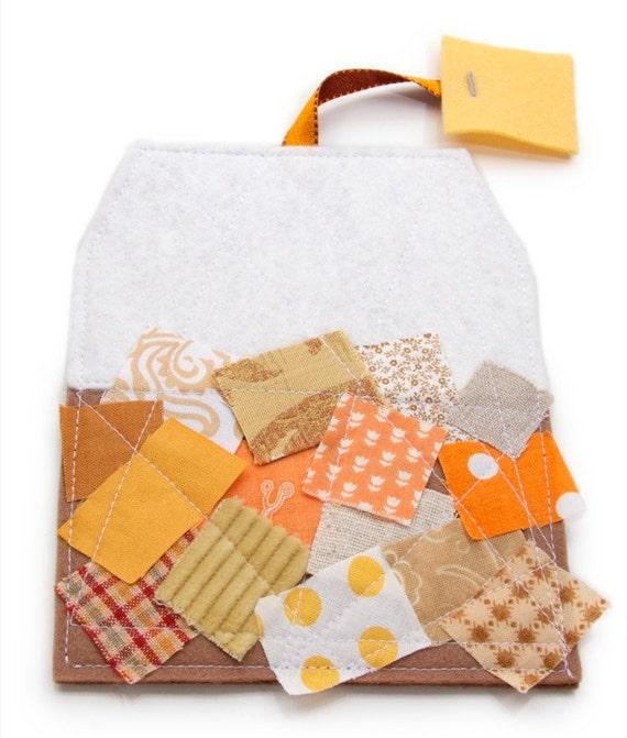 Felt Drink Coaster Scrappy Fabric Novelty Tea Bag