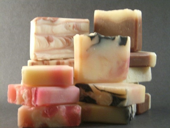 Three LARGE handmade soaps You choose the scents