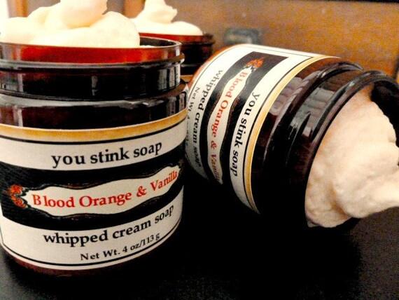 Blood Orange and Vanilla Whipped Cream Soap - 4 ounces