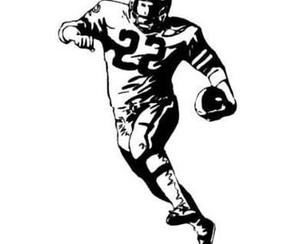 FOOTBALL PLAYER unmounted rubber stamp No.14