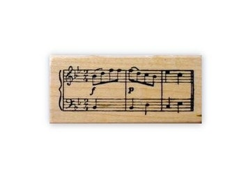 MUSIC STAFF, Mounted rubber stamp No.10