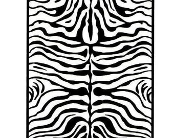 ZEBRA STRIPES Background UNMOUNTED African tribal rubber stamp, safari, Africa, Sweet Grass Stamps No.17