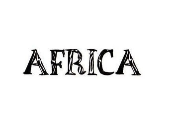 AFRICA word Unmounted rubber stamp, tribal No.17