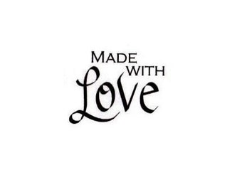 Made With Love Unmounted rubber stamp No.15