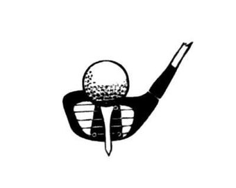 GOLF CLUB and BALL unmounted rubber stamp No.14