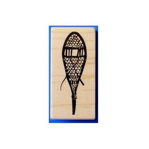 SNOWSHOE Mounted winter rubber stamp No.13