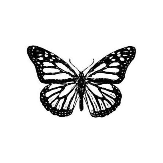 MONARCH BUTTERFLY unmounted rubber stamp No.9