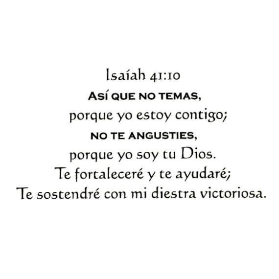 isaiah 41 10 in spanish unmounted bible verse rubber stamp
