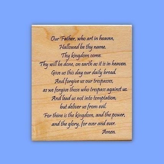 Lord's Prayer Christian rubber stamp, religious, No.16