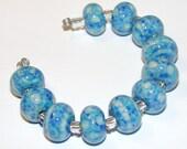 SPRING CLEANING SALE Tidepool handmade lampwork beads