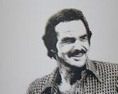 Burt Reynolds original screenprint
