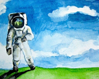 SALE - Earth Walk- Original Watercolor Painting