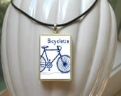 Bicycle Pendant In Blue