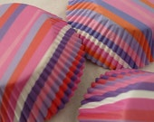 "Cupcake Liners 75 counts - Pink Purple white Stripes cup cake liners - baking cups - muffin cups - 2"" (5 cm) standard size"