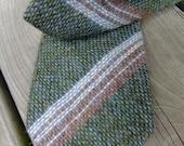 Vintage green knit tie