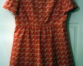 Scissor Print Summer Dress  - Custom Order