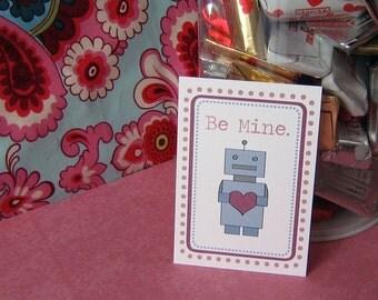 Printable Robot Valentines Digital File Instant Download