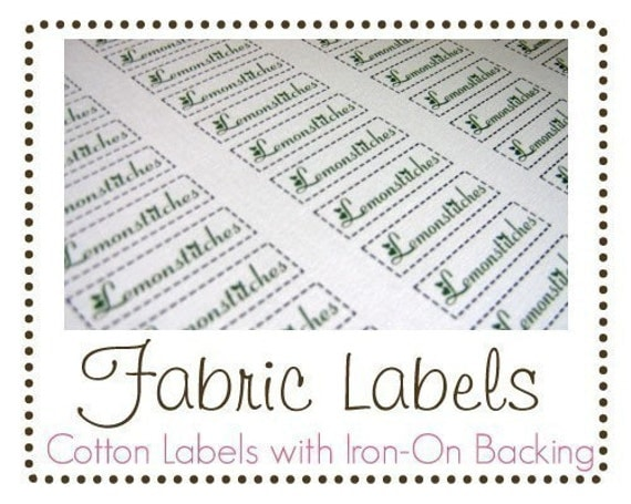 UNCUT DOUBLE ORDER Fabric Labels with iron-on backing