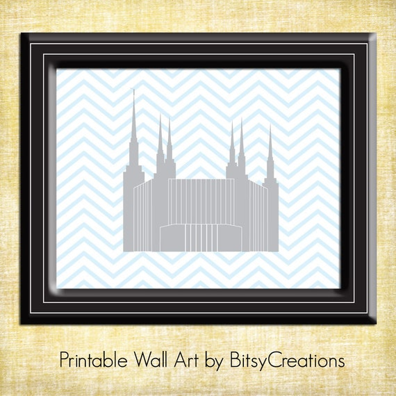 Washington DC LDS Temple Printable Wall Art by BitsyCreations