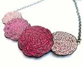 Pink Chrysanthemum Necklace, Chrysanthemum Flower Jewelry, Mum Necklace,Flower Bible Necklace, Wife Gift, Mom Gift, Daughter Gift from Mom,