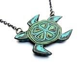Sea Turtle Necklace,  Sea Turtle Jewelry, Animal Jewelry, Sea Life Necklace