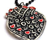 Anatomical Heart Necklace - My Heart is Filled with Love