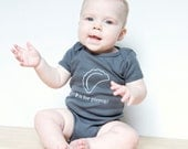 P is for Pierogi Baby One-Piece Bodysuit (Charcoal Gray or Red)- Poland, Polish, Pittsburgh