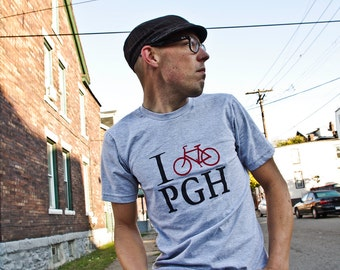 I bike PGH Men's T-shirt- Pittsburgh