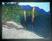 QUIET TIME - original landscape drawing