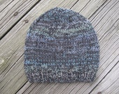 Stormy Day Hand-Knitted Wool Acrylic Baby Hat (size 1 to 2 years)