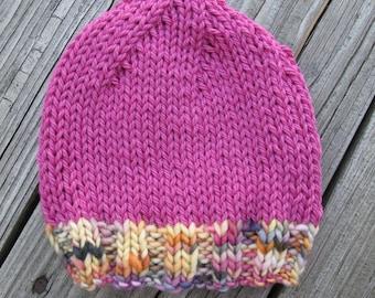 Candy Baby 2 Hand-Knitted Merino Wool Baby Hat (newborn to six months)