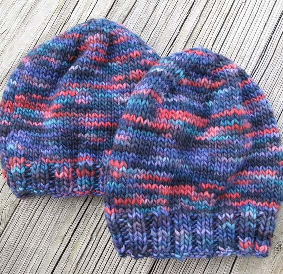 Baby Toddler Child Hat / size one to two years / Hand Knitted / Merino Wool / CROWN JEWELS