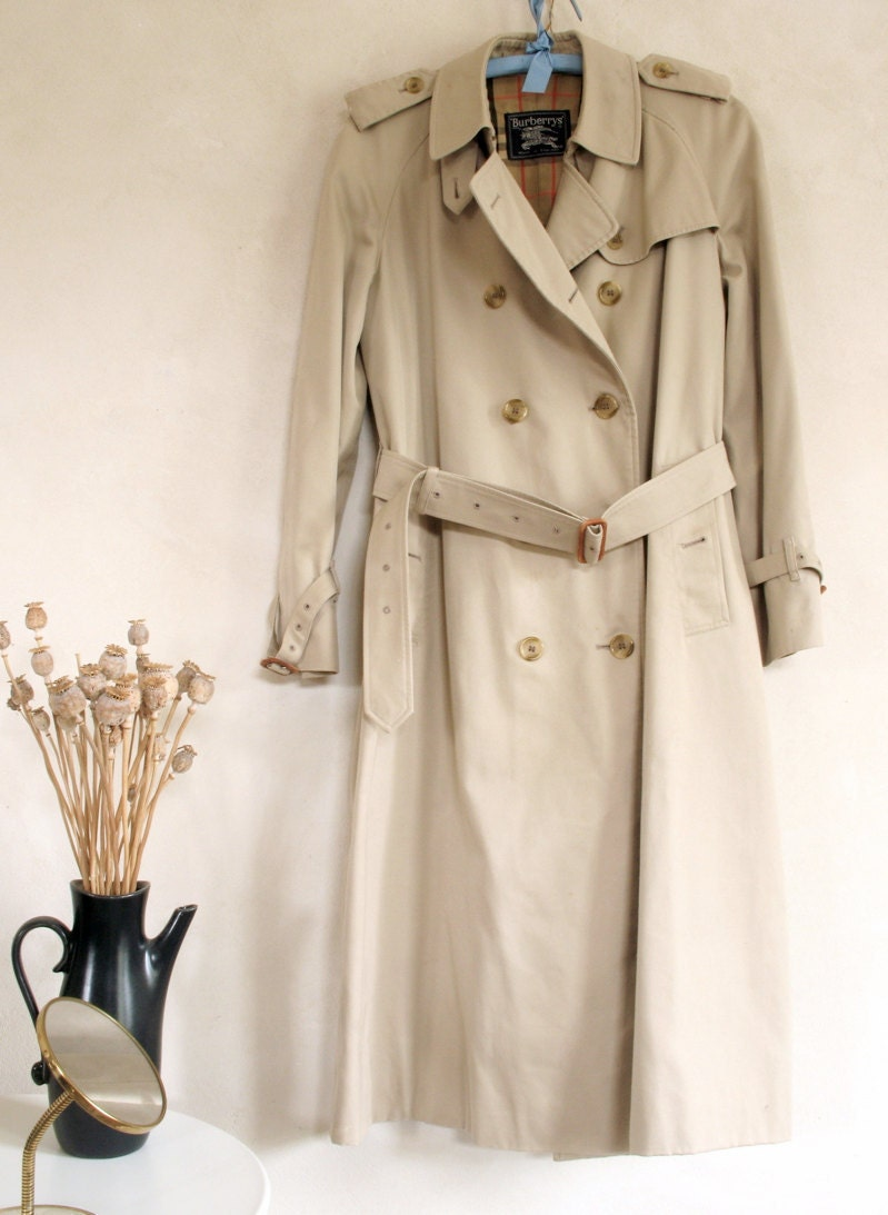 Vintage Classic Burberry Trench Coat 1960s Holly Go Lightly