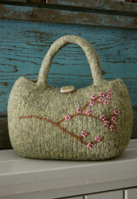 PDF PATTERN, Felted Bag Pattern, Felted Purse Pattern, Knitting Pattern, Knitting Pattern Purse, Knit Purse Pattern, Knit Bag Pattern