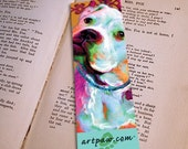 American Bulldog Bookmark, Book Lover Gift