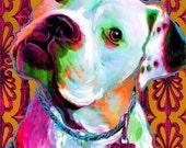 American Bulldog print, Pit Bull dog art, Staffordshire, Sweet Riley