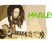 Bob Marley Reggae Art, Rasta Jamaican Art, Caribbean Folk Art, African ART