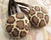 Leopard - 2 hair clips