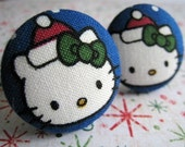 Christmas Hello Kitty - 2 ponytail holders