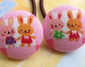 welcome to bunny fashion show - 2 ponytail holders