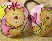 fairy bear  - 2 ponytail holders