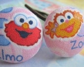 E for Elmo and Z for Zoe - 2 ponytail holders