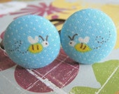 its wonderful to bee in love (blue) - 2 ponytail holders